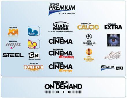 Programmi mediaset premium dedicati a Cinema e Tv